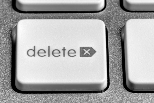Picture of a delete button