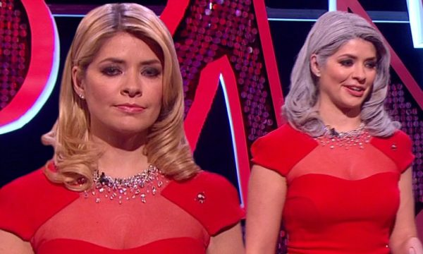 Holly  Willoughby with grey hair