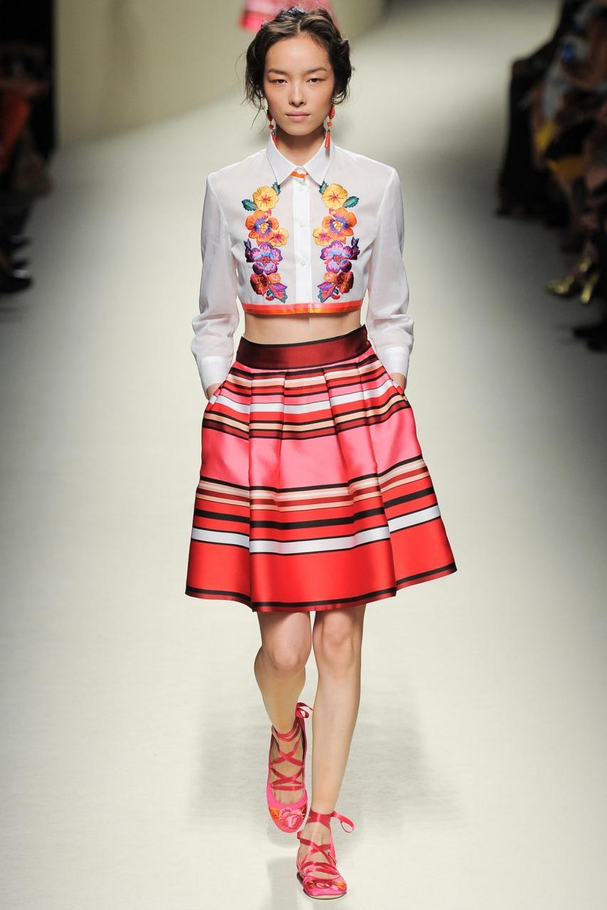 Seventies retro suede skirt
