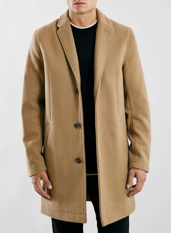 Camel Wool Blend Overcoat Topman £90