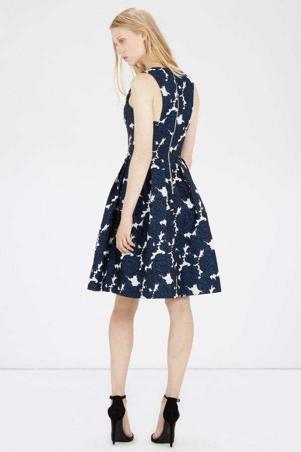 FLORAL JACQUARD MIDI DRESS £85 (warehouse)