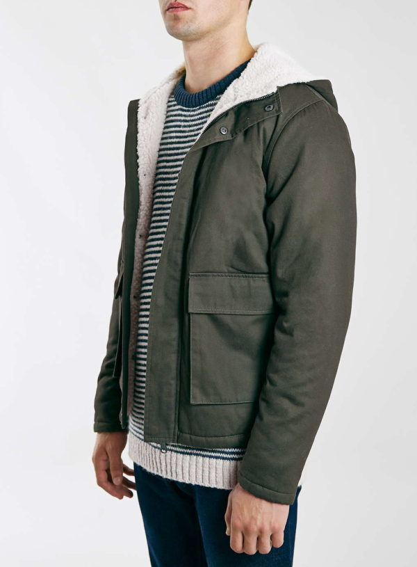 Ltd Khaki Parka Jacket £75 Topman