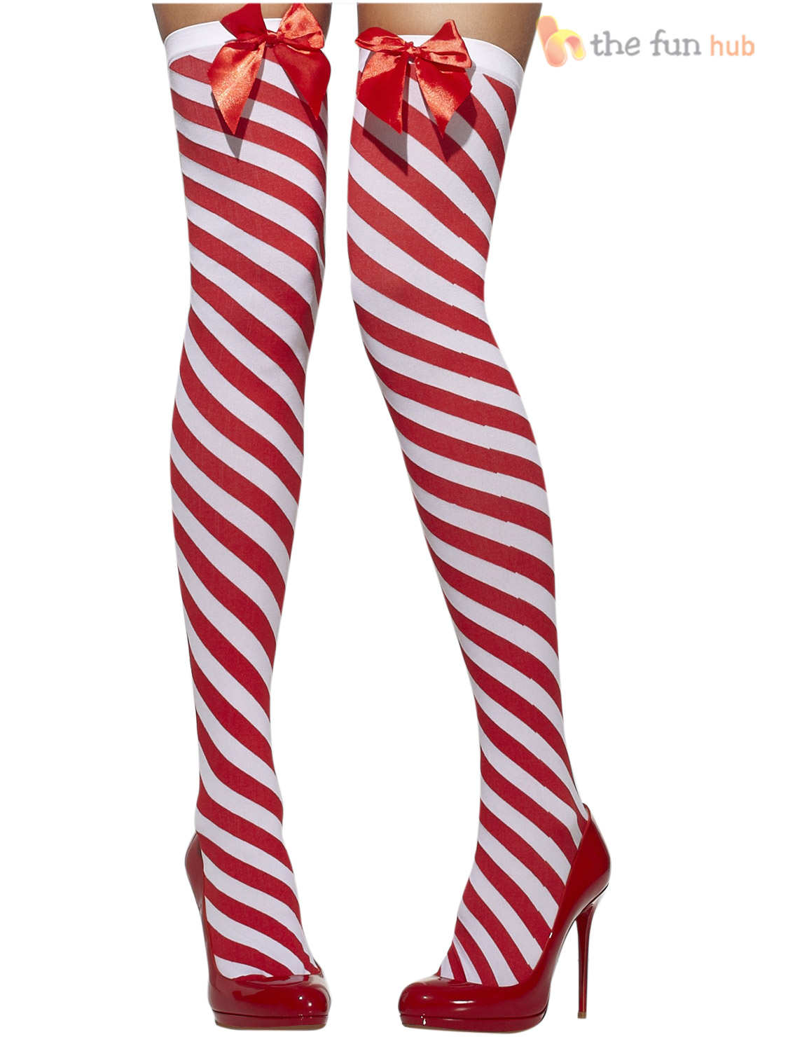 Candy striped stockings