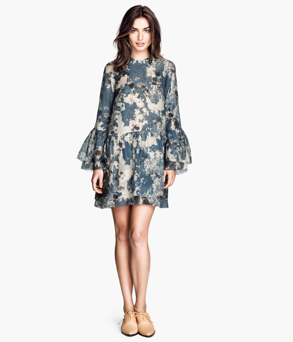 Blue Frilled Dress (Image: hm.com)
