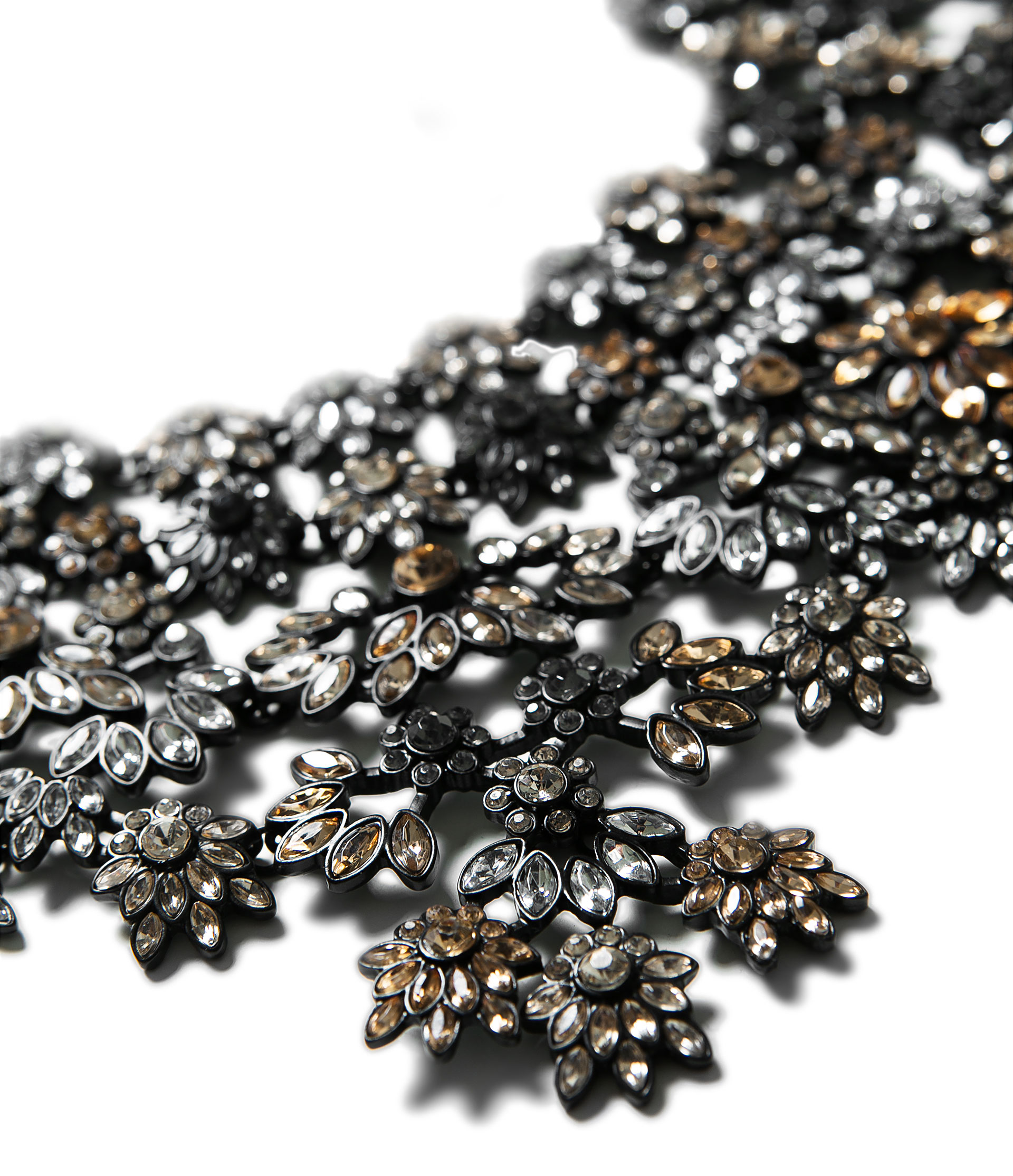 Zara Floral Gemstone Necklace (Image: lyst.com)