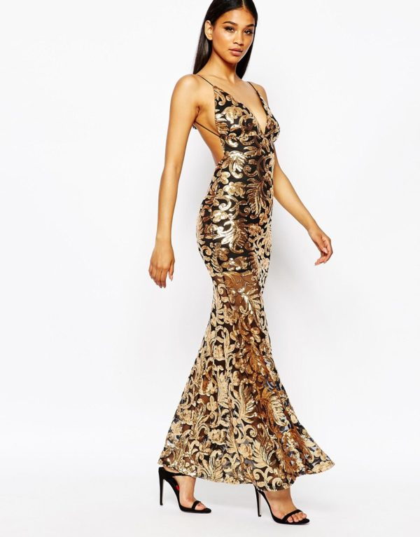Club L Showstopper Open Back Sequin Maxi Dress With Fishtail £80.00 £32.00