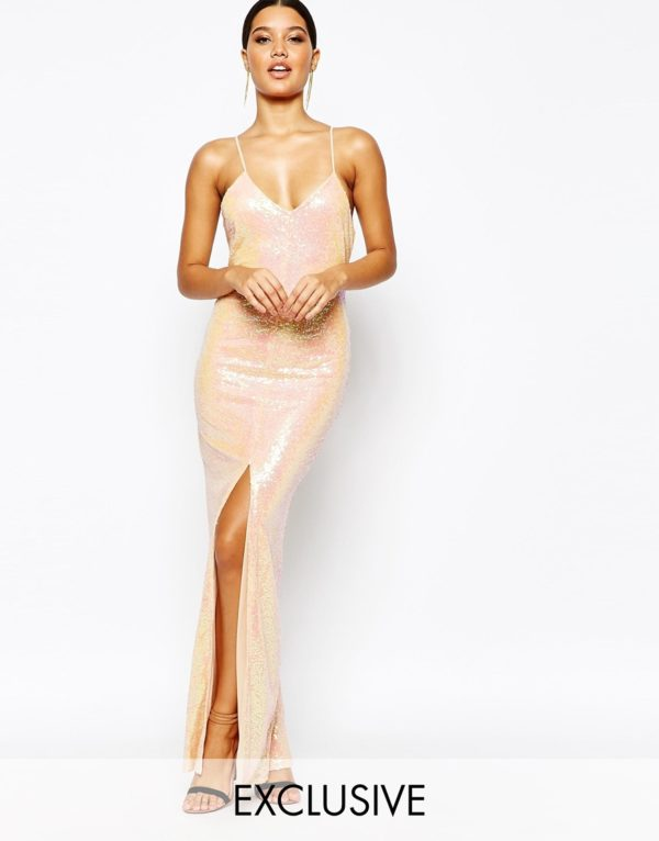 NaaNaa All Over Sequin Dress With Cross Back £40.00