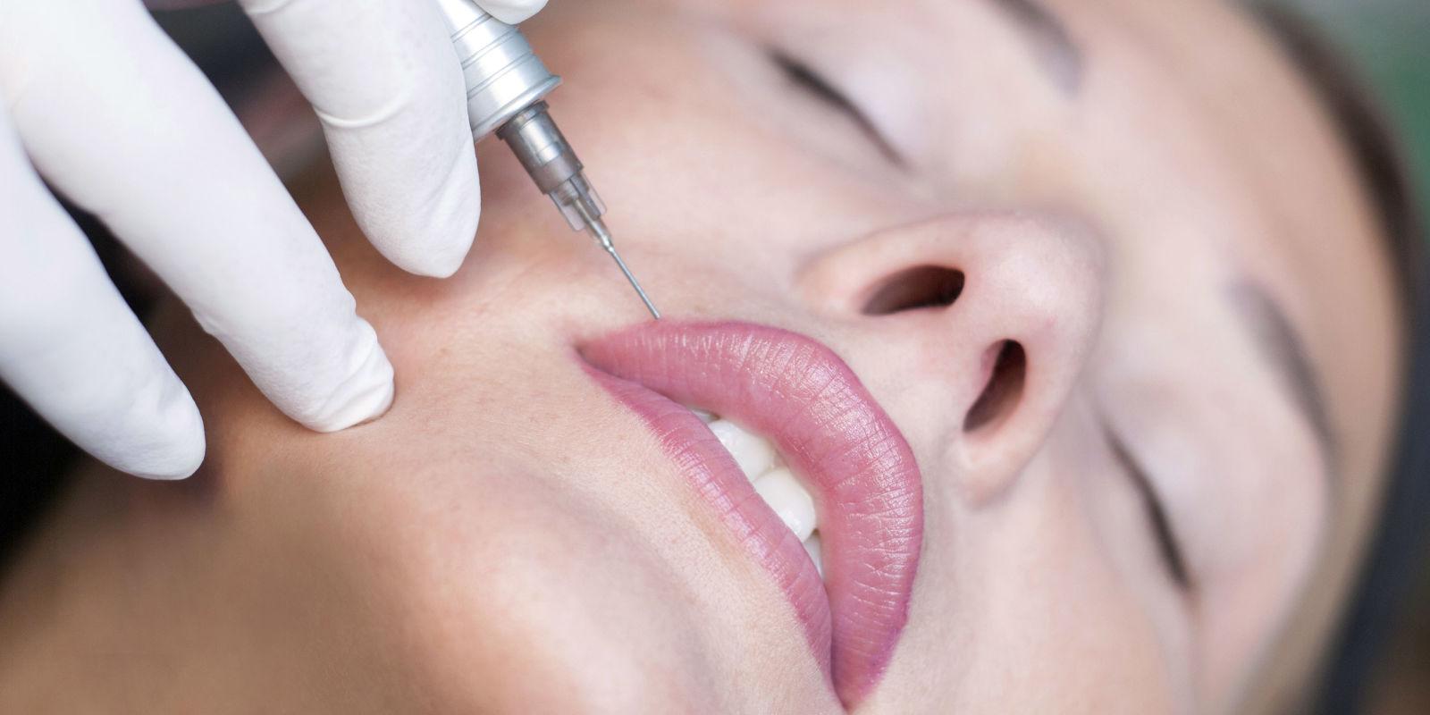 Lip liner tattoo