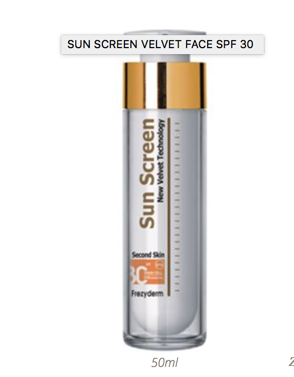 Frezyderm sun screen velvet face spf30