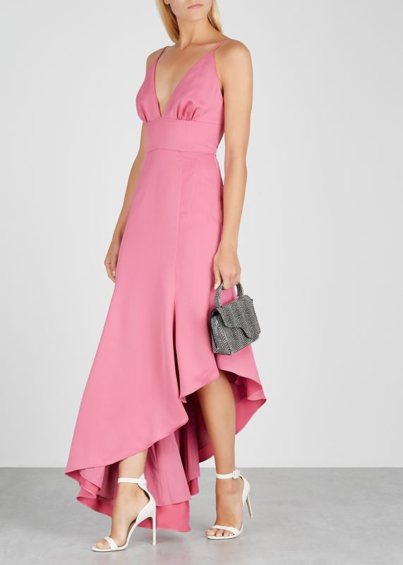 bridesmaid pink dress